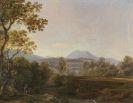 Johann Georg von Dillis - Süddeutsche Landschaft mit Wanderern