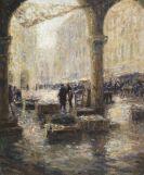 Otto Eduard Pippel - Fischmarkt in Venedig