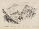 Edward Theodore Compton - 2 Bll.: Blick auf die Presanella. Bei der Villerspitze