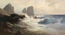 Edward Theodore Compton - Die Faraglioni-Felsen vor der Küste von Capri