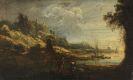 Johann Christian Brand - Zugeschrieben - 2 Pendants: Kleine Flusslandschaften mit Ruinen und Personenstaffage