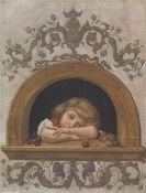 Hans Thoma - Ella am halbrunden Fenster