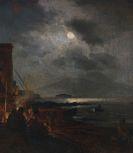 Oswald Achenbach - Fischer in der Bucht von Neapel bei Mondschein