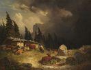 Friedrich Voltz - Gewitter im Gebirge