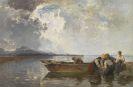 Joseph Wopfner - Fischerzug am Chiemsee