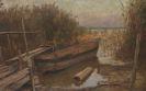 Karl Raupp - Fischerboot im Schilf