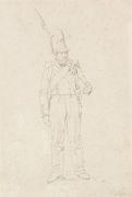 Peter von Hess - Bayerischer Infanterist mit Raupenhelm