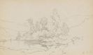 Carl Spitzweg - Kleine Landschaft mit Gewässer