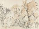 Otto Mueller - Bergige Landschaft mit kleinem Haus