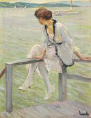 Edward Cucuel - Junge Frau am Starnberger See (Am Steeg)