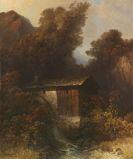 Oskar Mulley - Mühle an einem Fluss in Gebirgslandschaft