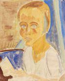 Erich Heckel - Portrait Siddi Heckel