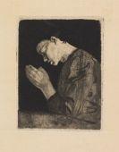 Käthe Kollwitz - Betendes Mädchen