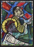 Albert Birkle - Simon hilft Jesus das Kreuz zu tragen (Farbentwurf für ein Bleiglasfenster)