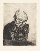 Ludwig Meidner - Selbstbildnis mit Radiernadel