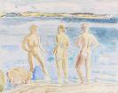 Erich Heckel - Drei Frauen am Meer