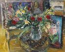 Bernhard Heisig - Atelierstilleben mit Blumenbouquet