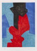 Serge Poliakoff - Composition bleue, rouge et noire