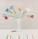 David Hockney - Coloured flowers made of paper and ink