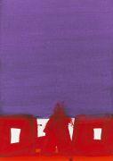 Markus Prachensky - Rot und violett - Solitude II