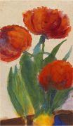 Emil Nolde - Drei rote Tulpen