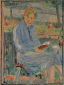 Alexej von Jawlensky - Lesende Frau (Bildnis Frau Toni Kirchhoff sitzend auf dem Balkon)