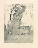 Emil Nolde - Kniendes Mädchen