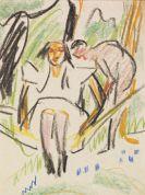 Ernst Ludwig Kirchner - Fränzi in der Hängematte