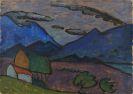 Gabriele Münter - Berglandschaft mit Haus