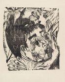Ernst Ludwig Kirchner - Kopf Hedwig Schaxel