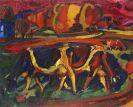 Peter August Böckstiegel - Landschaft mit Kühen