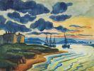 Hermann Max Pechstein - Sonnenuntergang (Lebastrom)