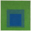 Josef Albers - Squares: Blue and Cobalt Green in Cadmium Green