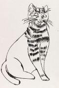 Andy Warhol - Reclining Cat (Sam sitting)