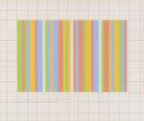 Bridget Riley - Short movement using double widths green, red, blue and yellow