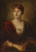 Franz von Lenbach - Porträt einer jungen Dame