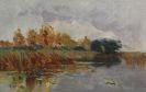 Karl Hagemeister - Herbstlandschaft am Schwielowsee