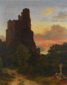 Josef Winkelirer - Romantische Landschaft mit Burg