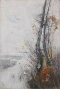 Karl Hagemeister - Bäume am Strand im Winter