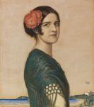 Franz von Stuck - Tochter Mary als Spanierin