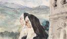Adolph von Menzel - Zwei Nonnen im Klosterhof