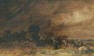 Wilhelm Busch - Wiedensahler Bocksmühle bei aufziehendem Sturm