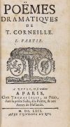 Pierre Corneille - Le Theatre. Poems. 9 Bde.