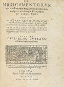 Guilielmus Puteanus - De medicamentorum. 1552.