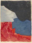Serge Poliakoff - Composition rouge, grise et noire