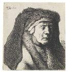 Harmensz. Rembrandt van Rijn - Alte Frau mit dunklem Schleier und Pelzkragen
