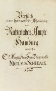 Nicolaus Schuback - Versuch einer systematischen Abhandelung vom Richterlichen Ampte in Hamburg.
