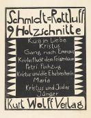 Karl Schmidt-Rottluff - 10 Bll. Holzschnitte