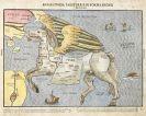 Heinrich Bünting - 3 Bll. Welt, Asien (als Pegasus) und Afrika.