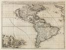 Amerika - 1 Bl. L'Amerique selon les nouvelles observations (P. van der Aa).